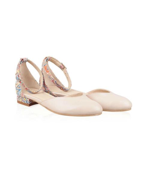Balerini piele naturala Elvira Color N101 - sau Orice Culoare