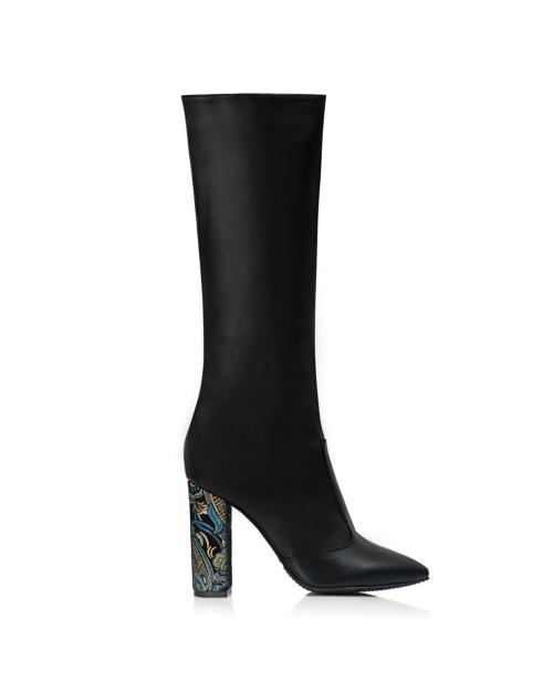 Cizme negre Stiletto Mirelle S15 - sau Orice Culoare
