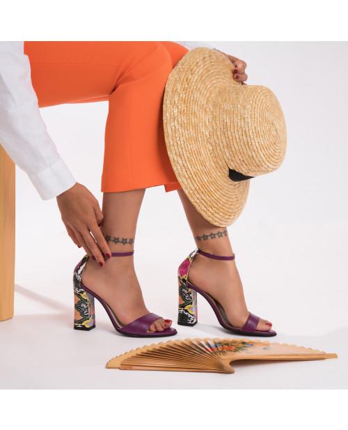 Sandale mov din piele naturala Delia S17 - sau orice culoare