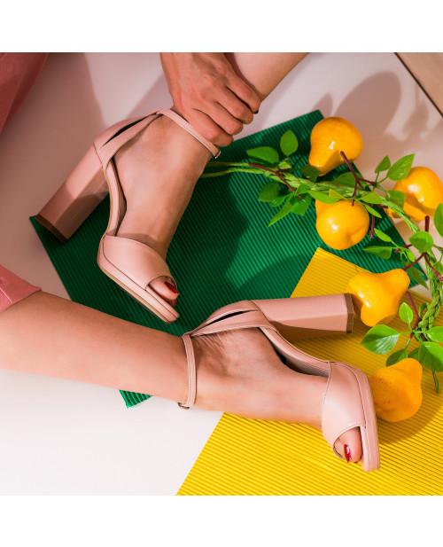 Sandale piele nude Beth S51 - sau Orice Culoare