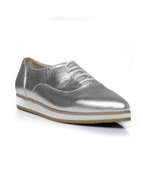Pantofi Oxford Simply Carolyn argintii C1-sau Orice Culoare