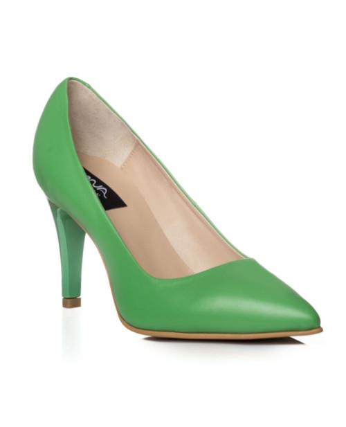 Pantofi piele Stiletto Alisa verde C7-sau Orice Culoare