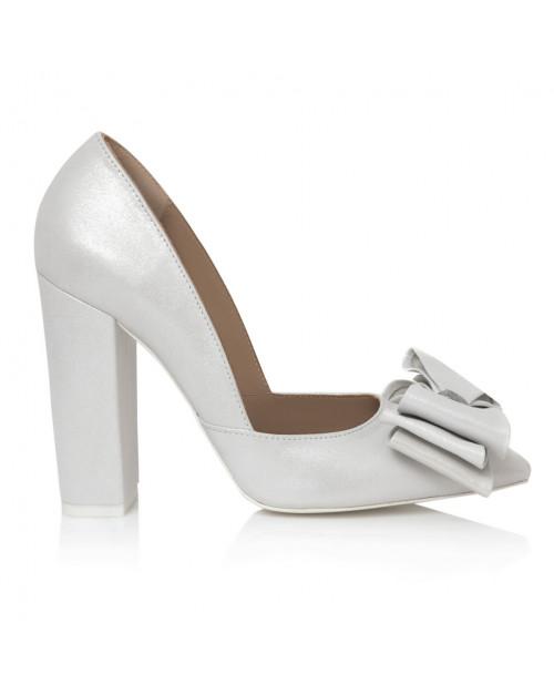 Pantofi bej din piele naturala Calla L25 - sau Orice Culoare
