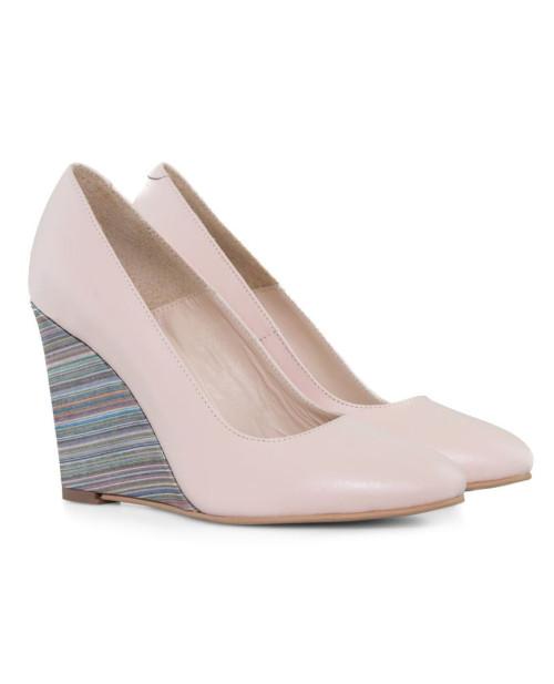 Pantofi cu toc ortopedic Naty somon D15 - sau Orice Culoare
