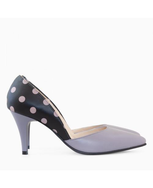 Pantofi dama Stiletto cu buline Emma D5 - sau Orice Culoare