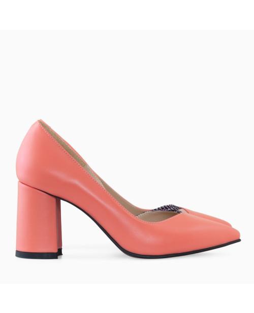 Pantofi dama Stiletto corai Perla D8 - sau Orice Culoare