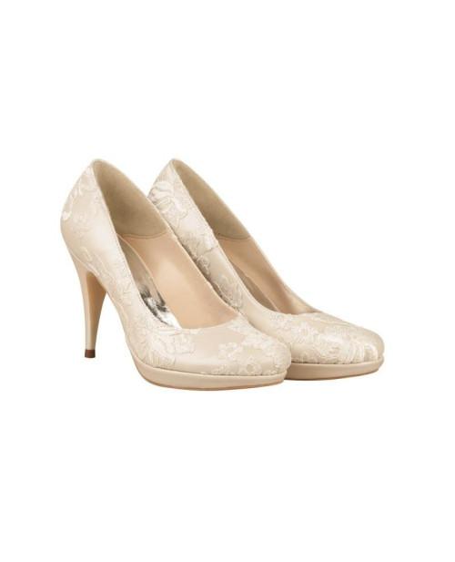 Pantofi de mireasa cu dantela N100