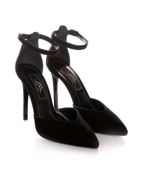 Pantofi negri din piele naturala Lora L70 - sau Orice Culoare