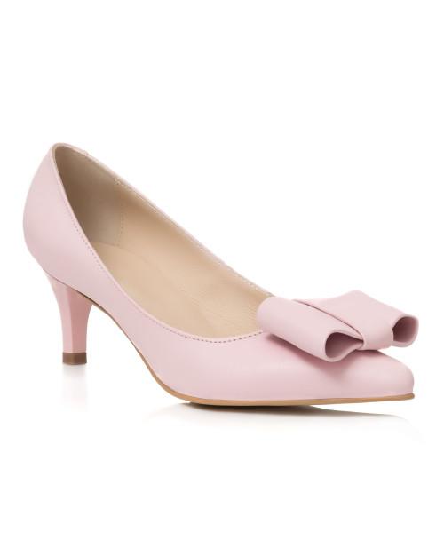 Pantofi nude din piele naturala Eva L50 - sau Orice Culoare