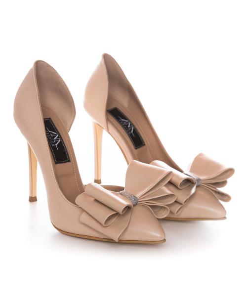 Pantofi nude din piele naturala Clarisse L57 - sau Orice Culoare