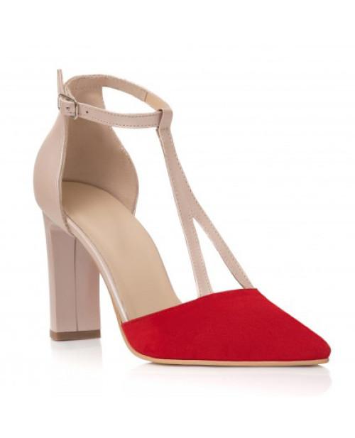 Pantofi nude din piele naturala Esther C103
