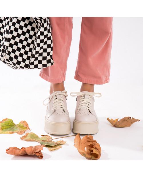 Pantofi nude din piele naturala Margo V11 - sau Orice Culoare