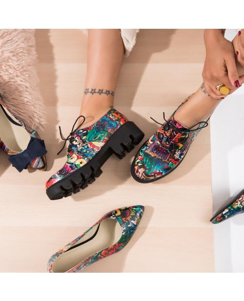 Pantofi multicolori tip Oxford, Sky V20  - sau Orice Culoare