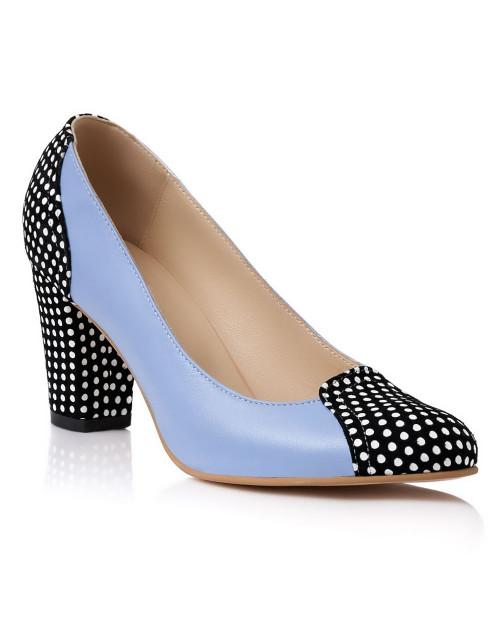 Pantofi online Stiletto Privilege cu buline S3 - sau Orice Culoare