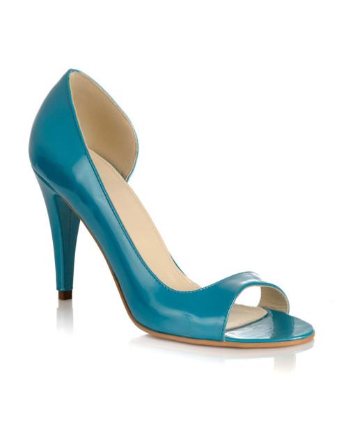 Pantofi piele Emilia turcoaz L06 - sau Orice Culoare
