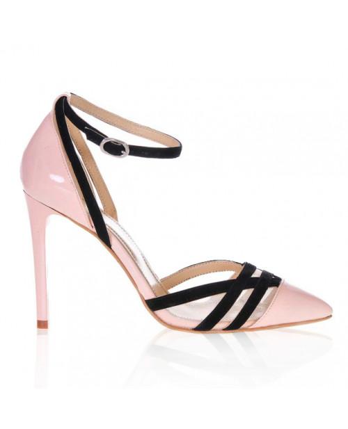 Pantofi piele naturala Lovely, nude S21 - sau Orice Culoare