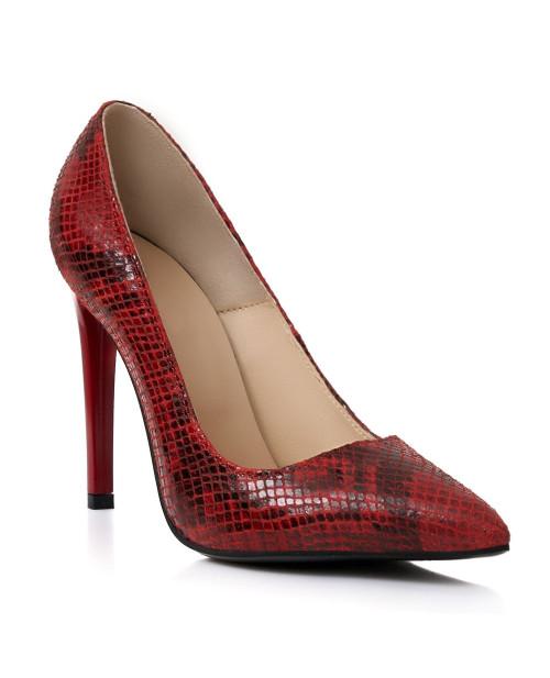 Pantofi piele naturala Rosii Muse S357