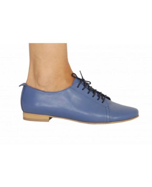 Pantofi piele Oxford2, albastru-sau Orice Culoare