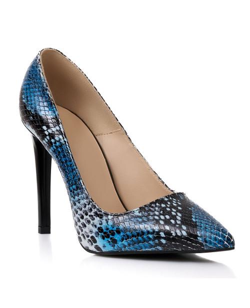 Pantofi piele naturala Albastri Muse S257
