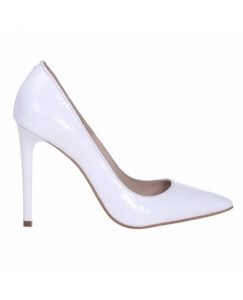 Pantofi Stiletto alb croco Destiny S33 - sau Orice Culoare