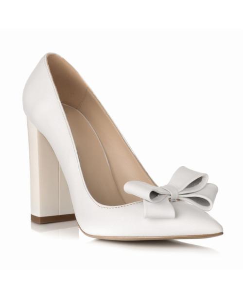 Pantofi online Stiletto Chic alb S21 - sau Orice Culoare