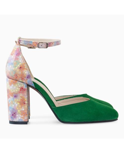 Pantofi verzi din piele naturala Seductive D07 - sau Orice Culoare