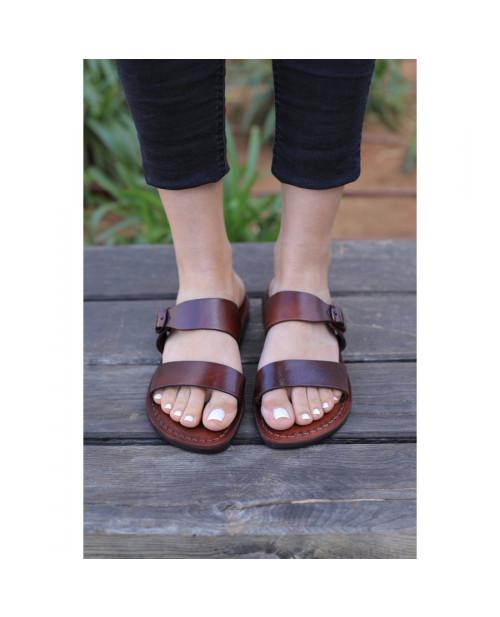 Sandale piele naturala Cora, maro
