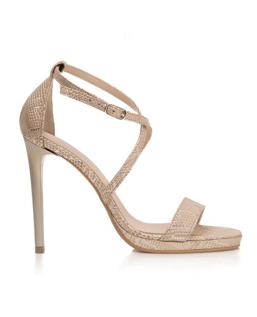 Sandale aurii din piele naturala Sarah S30 - sau orice culoare