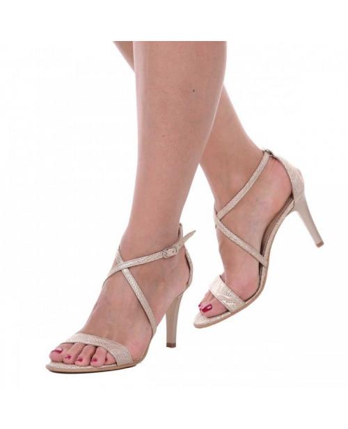 Sandale aurii piele naturala Maddy S11 - sau Orice Culoare