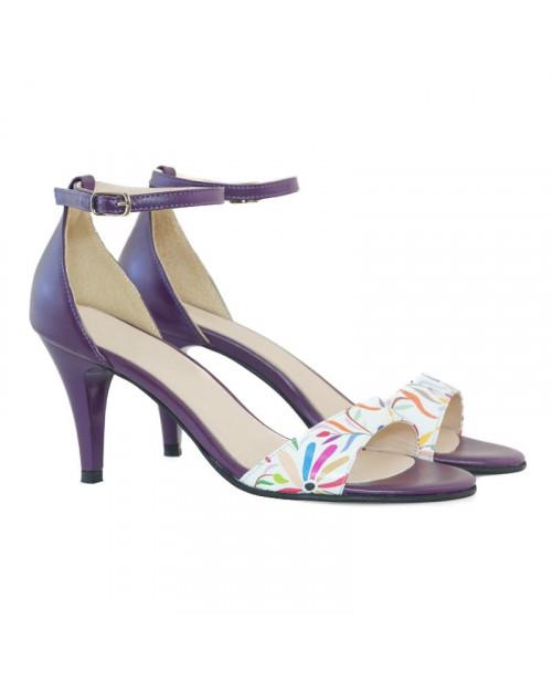 Sandale mov din piele naturala Dori D11 - sau orice culoare