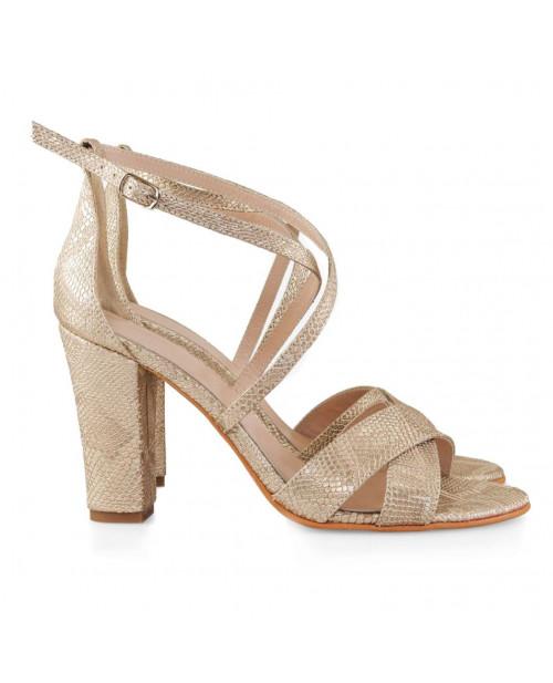 Sandale piele naturala Lora aurii D55 - sau orice culoare
