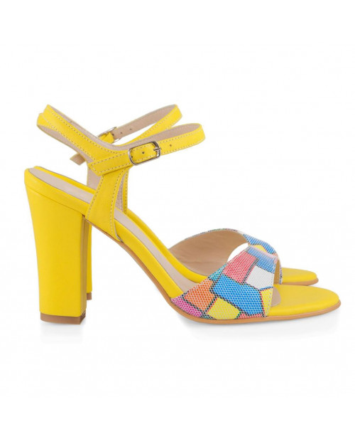 Sandale piele naturala Carla Multicolor D56 - sau orice culoare