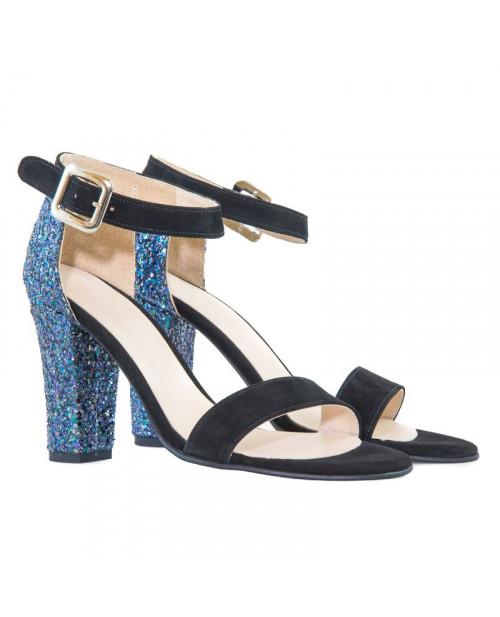 Sandale glitter piele naturala Caro D21 - sau orice culoare