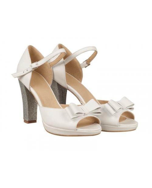 Sandale mireasa Ariel argintii N70 - sau Orice Culoare