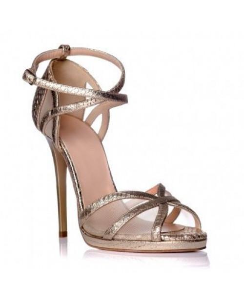 Sandale piele naturala Arya aurii sarpe S100 - sau orice culoare