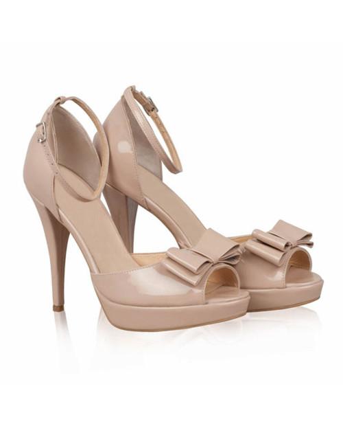 Sandale piele Vichi nude - N56 - sau Orice Culoare