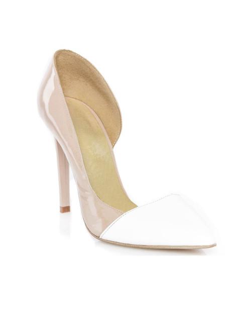 Pantofi Stiletto nude decupat pe interior -sau Orice Culoare