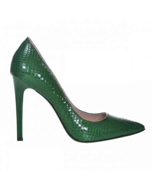 Pantofi Stiletto sarpe verde Bella S150 - sau Orice Culoare
