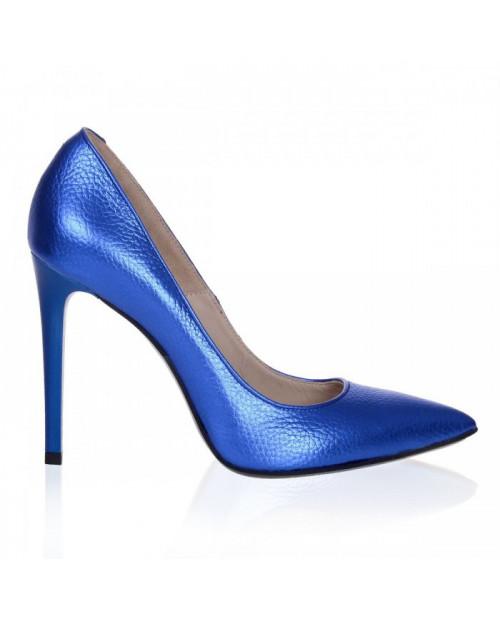 Pantofi Stiletto albastru sidef Lucy S55 - sau Orice Culoare
