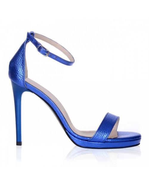 Sandale din piele naturala Daydream albastru sidef S95 - sau orice culoare