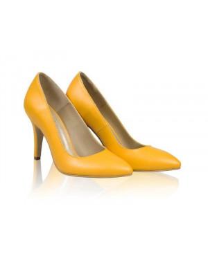 Pantofi dama Model AF Stiletto, galben-sau Orice Culoare