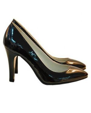 Pantofi Stiletto din piele lacuita, negri-sau Orice Culoare