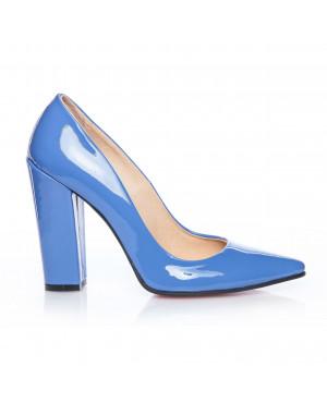 Pantofi online Stiletto toc gros, albastru lac-sau Orice Culoare