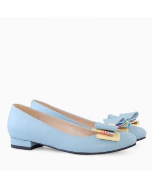 Balerini piele naturala blue Elena D11 - sau Orice Culoare