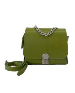 Geanta din piele naturala Evelin verde G75 - sau Orice Culoare