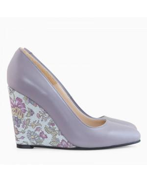 Pantofi cu toc ortopedic Naty Lila D30 - sau Orice Culoare