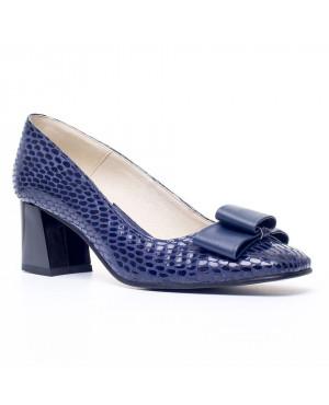 Pantofi dama Office Isabel, croco bleumarin V1-sau Orice Culoare