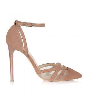Pantofi cappuccino din piele naturala Elisa S5 - sau Orice Culoare
