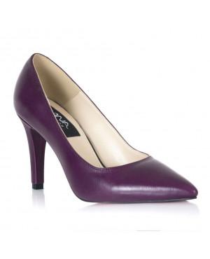Pantofi piele mov Mara L35 - sau Orice Culoare