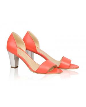 Sandale din piele naturala Carrie, corai-sau Orice Culoare